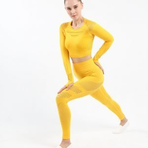 Seamless yoga set yellow Space
