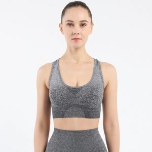 Seamless yoga wear bra dark grey Change