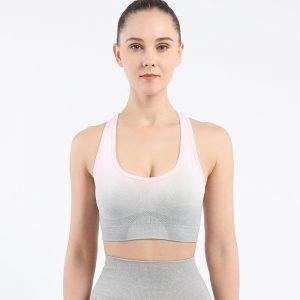 Seamless yoga wear bra light pink Change