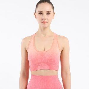 Seamless yoga wear bra orange red Change
